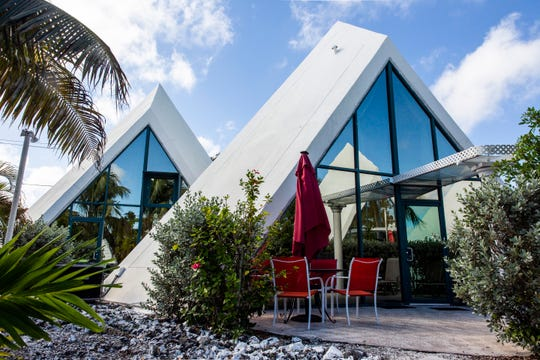 The Pyramids condo in Fort Myers, as seen on Wednesday, Oct. 17, 2018. Host Jeanie Hepokoski offers six pyramids to rent through Airbnb.