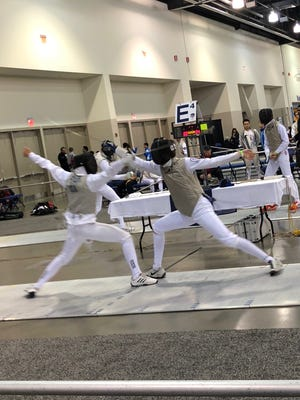 Barron Collier junior David Tierney competes at the North American Cup in Milwaukee last weekend. Tierney, 16, earned a spot on the U.S. national fencing team for upcoming World Cup events in Austria and France.