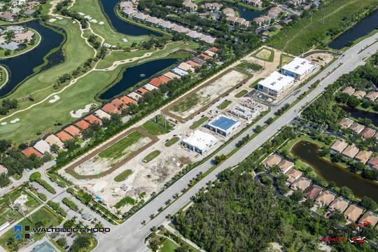 Aerial view of Naples Motor Condos site.