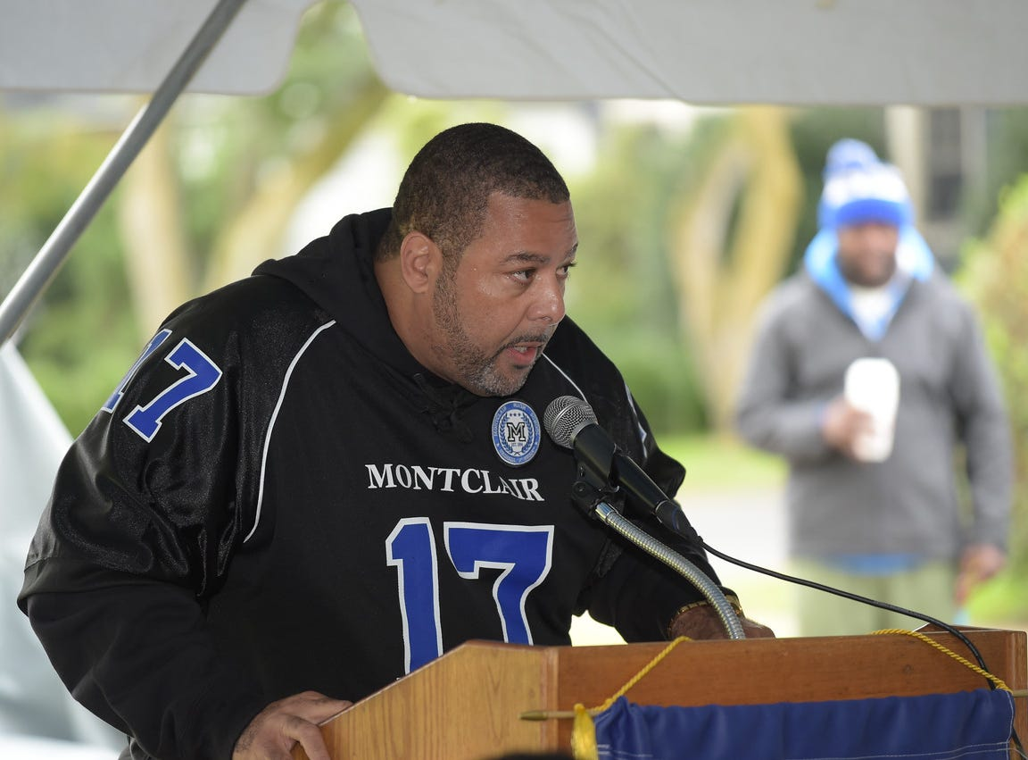 John Lewis Sr. speaks at the dedication of the Montclair High School Sports complex to his father, Aubrey Lewis. October 13, 2018.