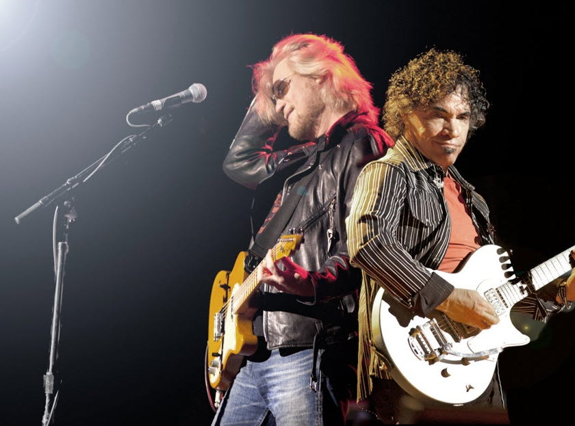 Iconic duo Daryl Hall and John Oates performed at the Wellmont Theater on Nov. 29, 2011.