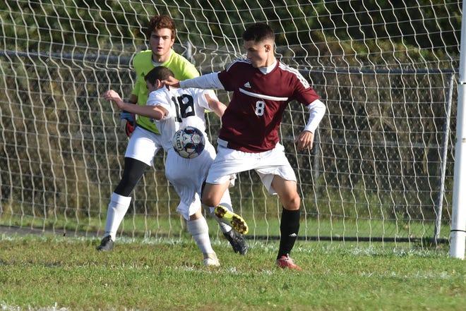 Boys soccer game: Wayne Hills Dorant Bokshi  vs. West Milford Brandon Messina