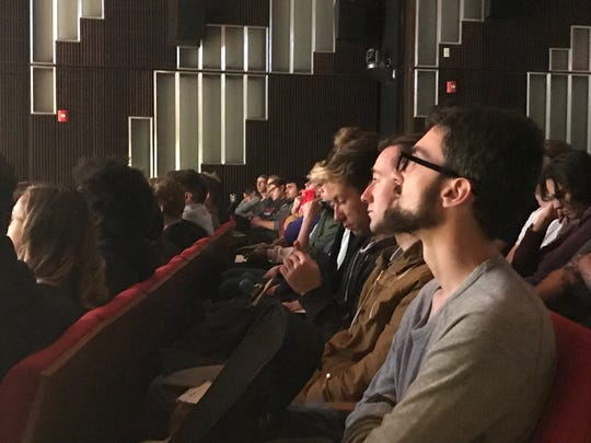 Montclair State University listen to veteran writer-director Tony Gilroy at an event on Oct. 9