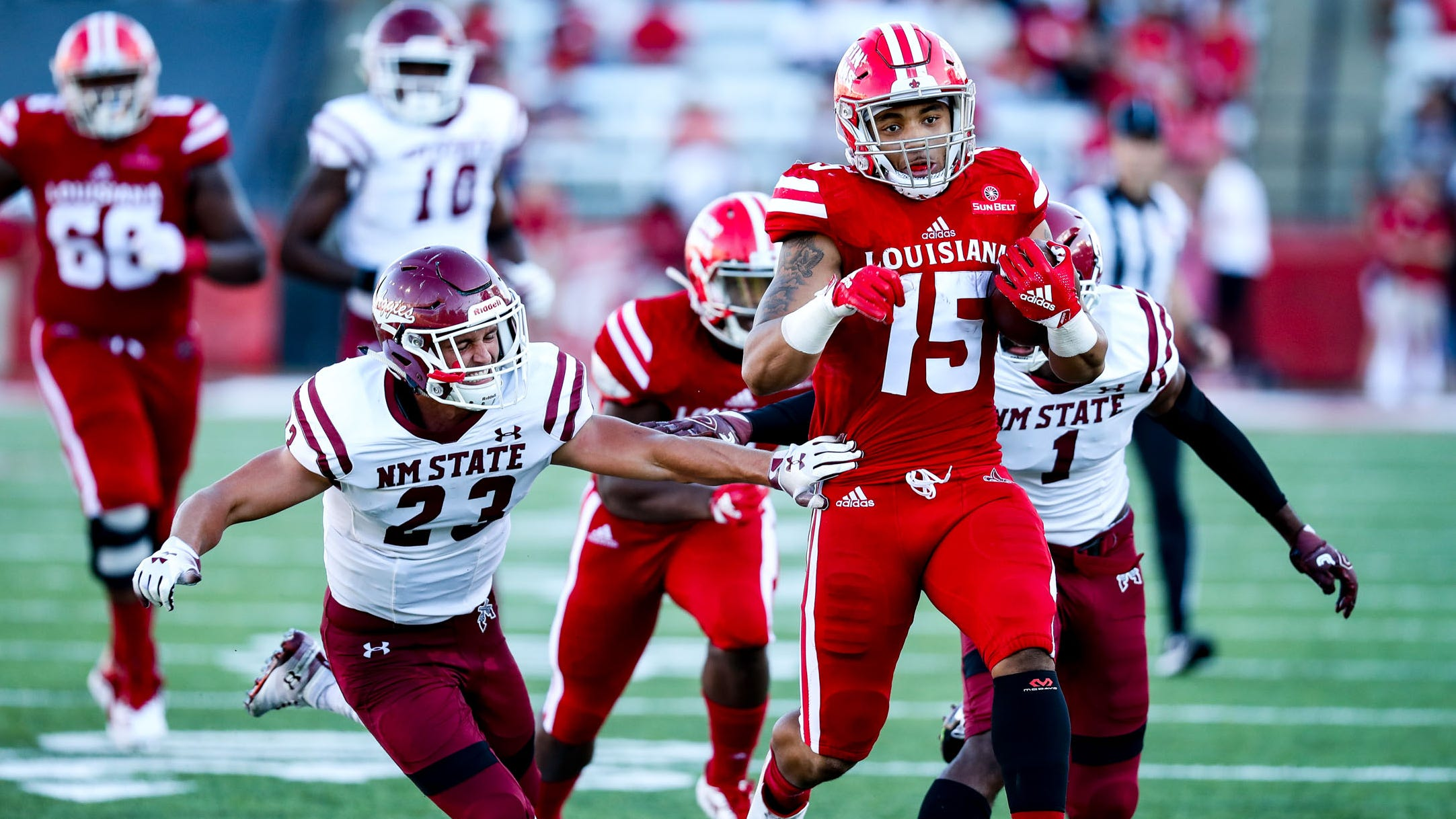 The New Mexico State defense hopes to rebound from a poor showing last week at Louisiana. The Aggies host Georgia Southern on Saturday.