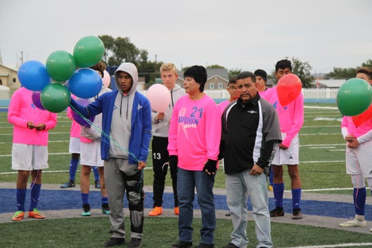 Carlsbad honors Tammy Ruiz, the mother of Carlsbad senior Lois Ruiz. She beat two forms of cancer in February.