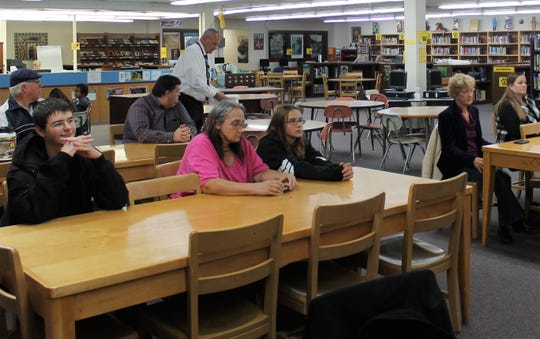 About 15 people showed up tot he APS EdTech forum for parents and the community Tuesday held at the Alamogordo High School Library.