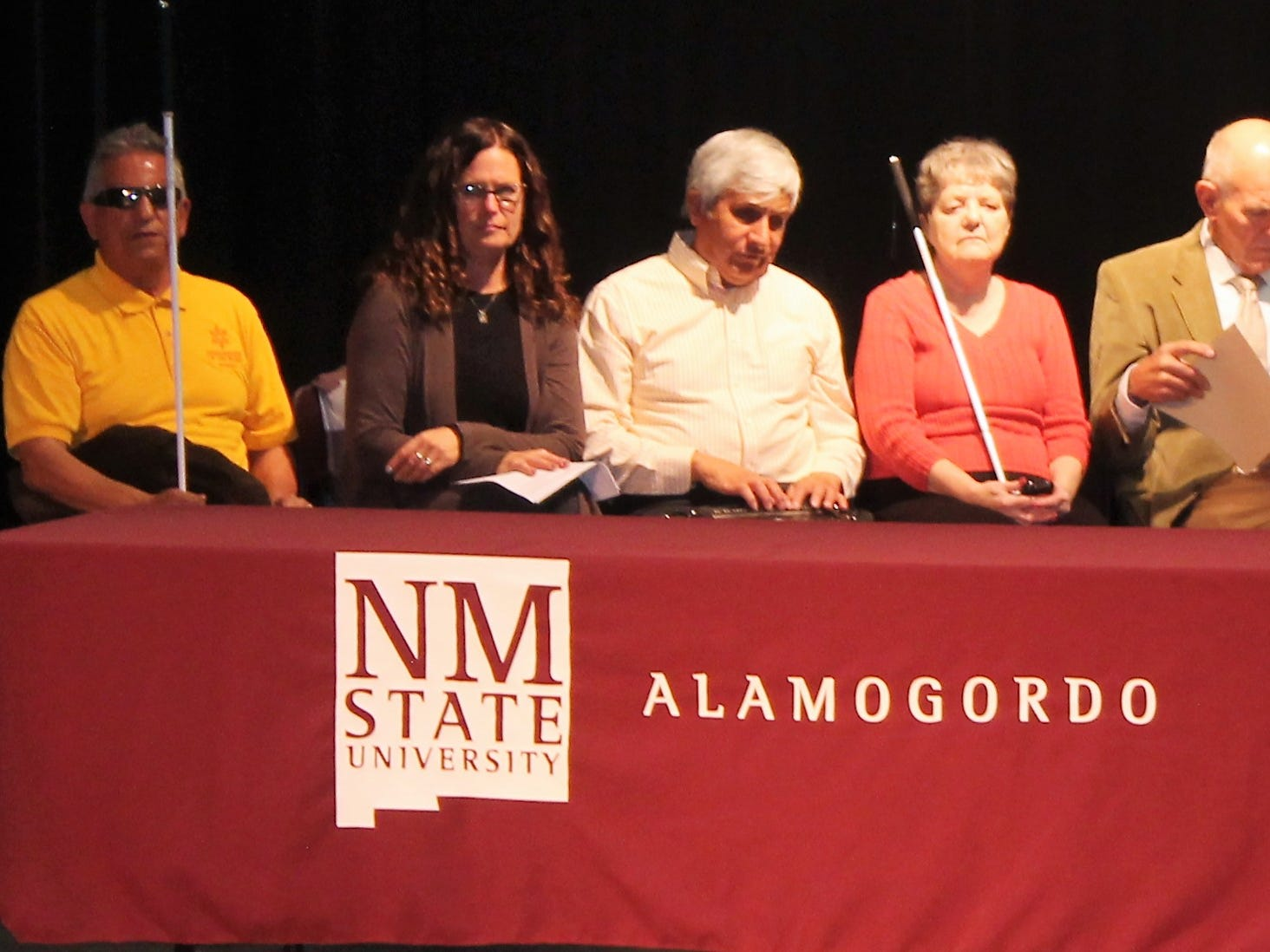 Speakers at the at White Cane Safety Day festivities Tuesday included representatives from the NMSBVI, National Federation of the Blind-White Sands Chapter and the City of Alamogordo.