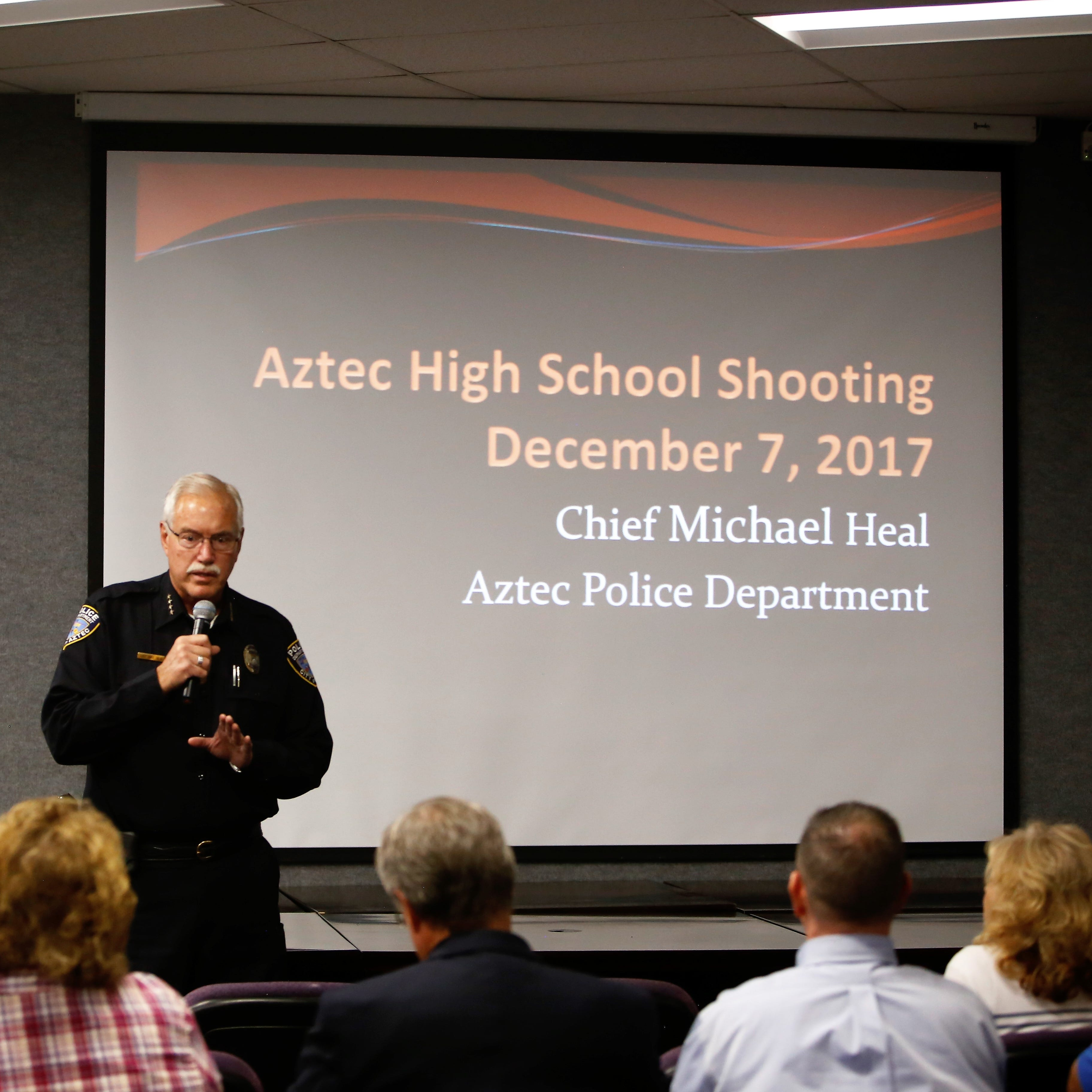 Police chief gives Aztec High School shooting presentation