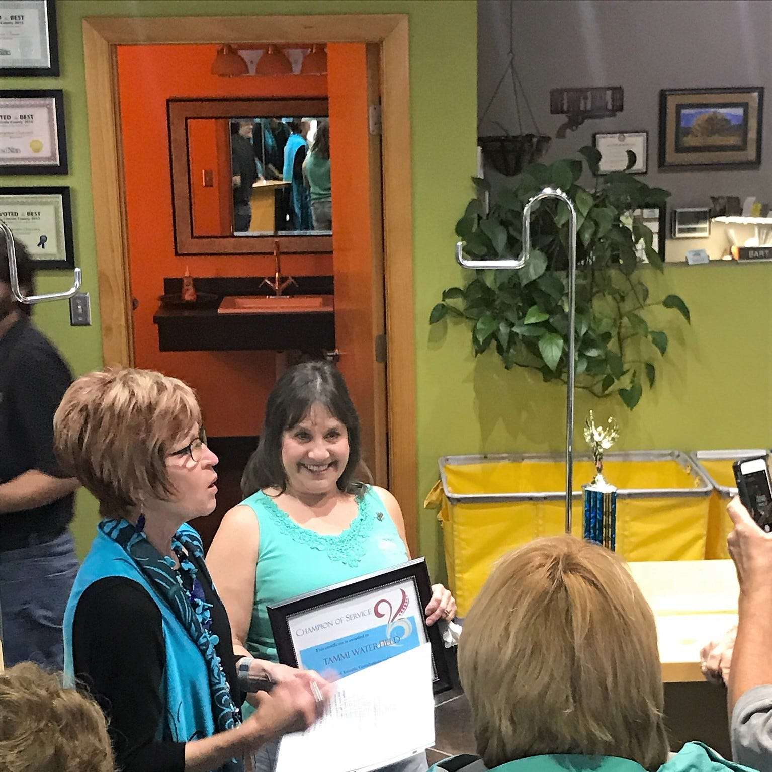 Waterfield named Champion of Service by Chamber
