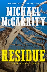 "The book cover of ""Residue"" by Michael McGarrity"