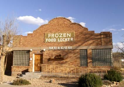The museum was created inside the former Frozen Food Locker freezer and ice building.