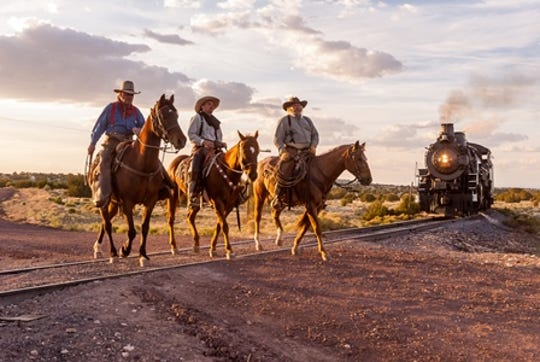 Patrick Phelan, the owner of this photograph, granted the museum the right to use it as the scene captured the relationship between ranching and the train.