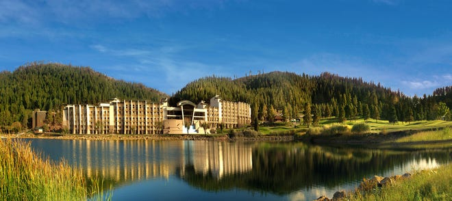 The Inn of the Mountain Gods is on the Mescalero Apache Reservation, which adjoins the village of Ruidoso.