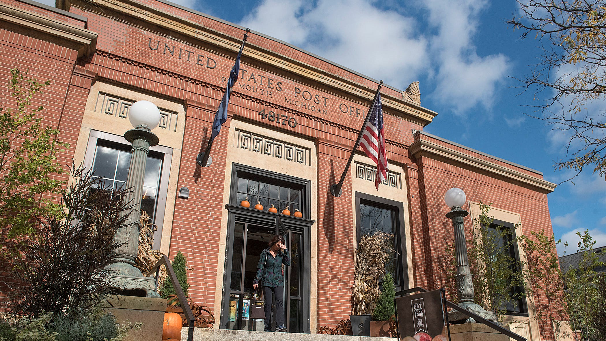 Westborn Market is honored by the Michigan Downtown Association for its preservation of historical details in the redevelopment of the old U.S. Post Office in Plymouth.