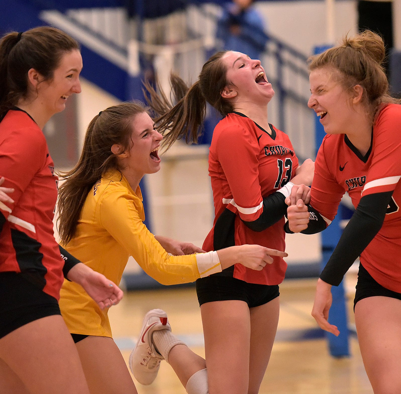 Churchill Chargers volleyball take 1st in KLAA East, beating the Stevenson Spartans