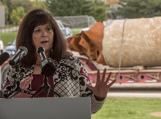 Sue McCormick, CEO of the Great Lakes Water Authority, announces a program to assess the condition of water mains.