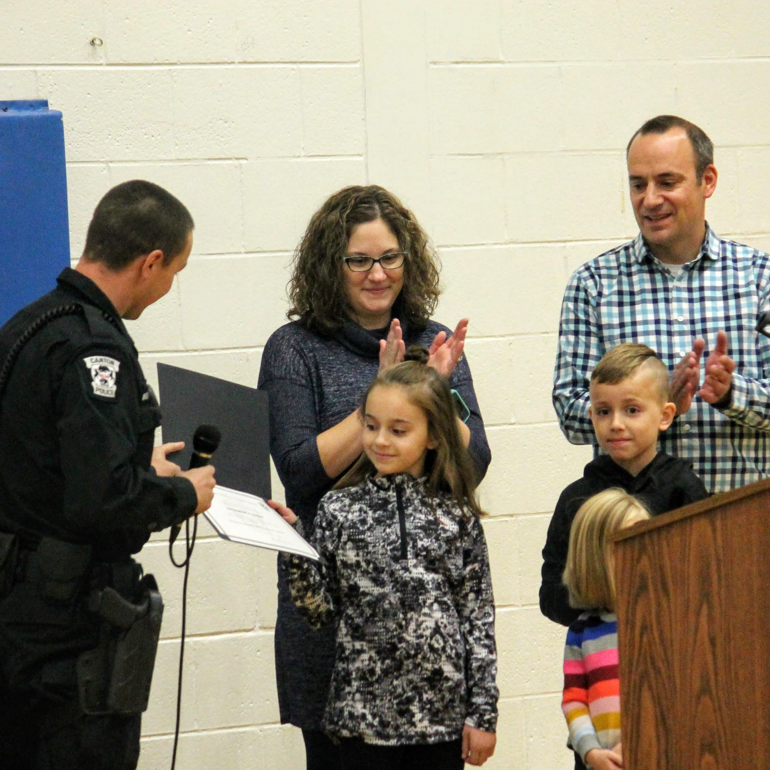 Johnson student honored for quick decision-making after her mother suffers health issue