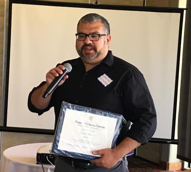 Outstanding Teacher of American History awardwent toGabriel Gutierrez