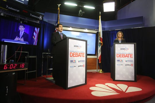U.S. Rep. Raul Ruiz and Republican challenger Kimberlin Brown Pelzer debate on Oct. 16, 2018, at NBC Palm Springs. That channel and four others are slated to change their broadcast frequencies. If you use cable or satellite, you won't be affected, but if you use a digital antenna you'll have to rescan for the right frequency.