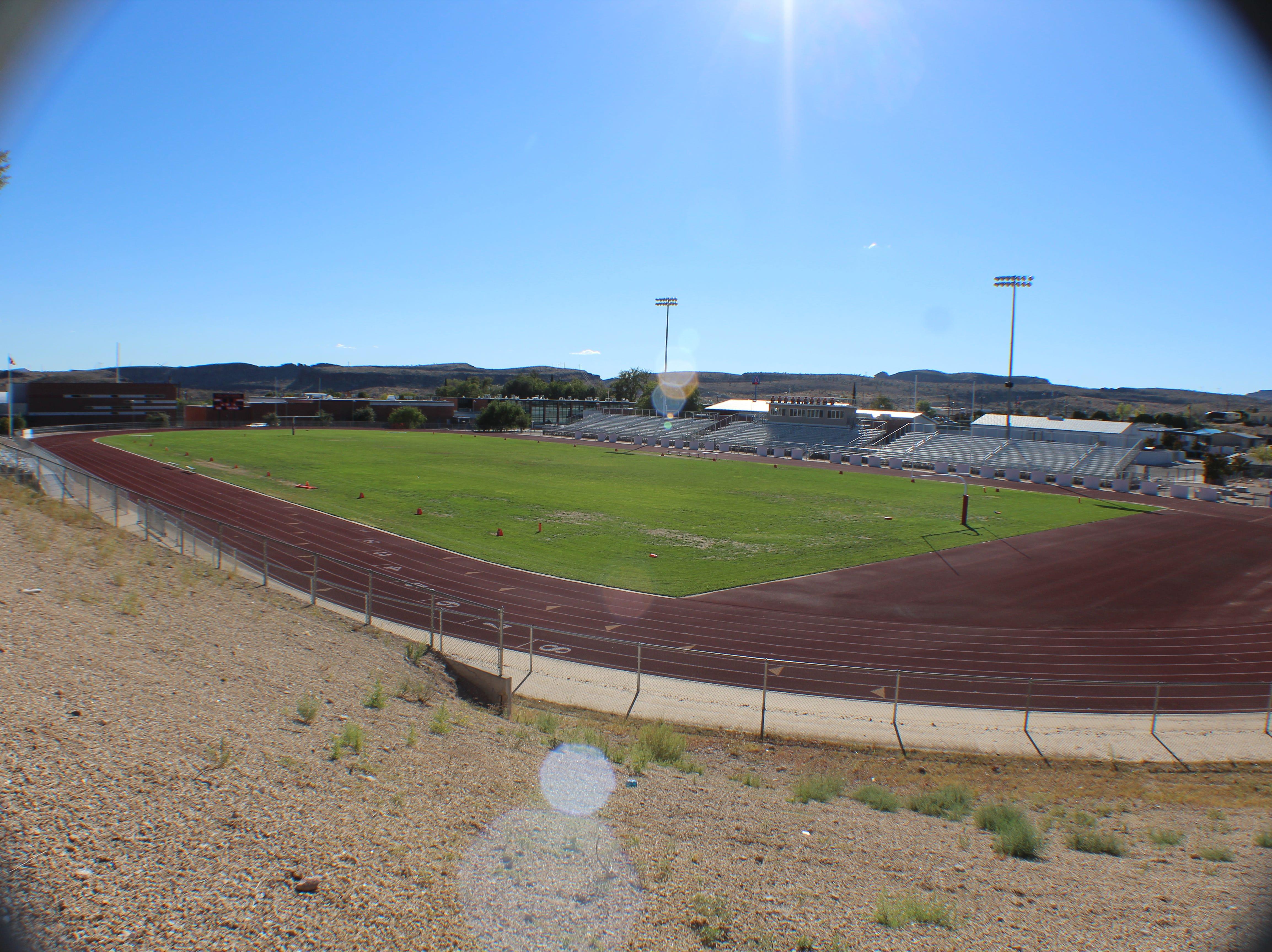 Kingman Lee Williams High School's football field.