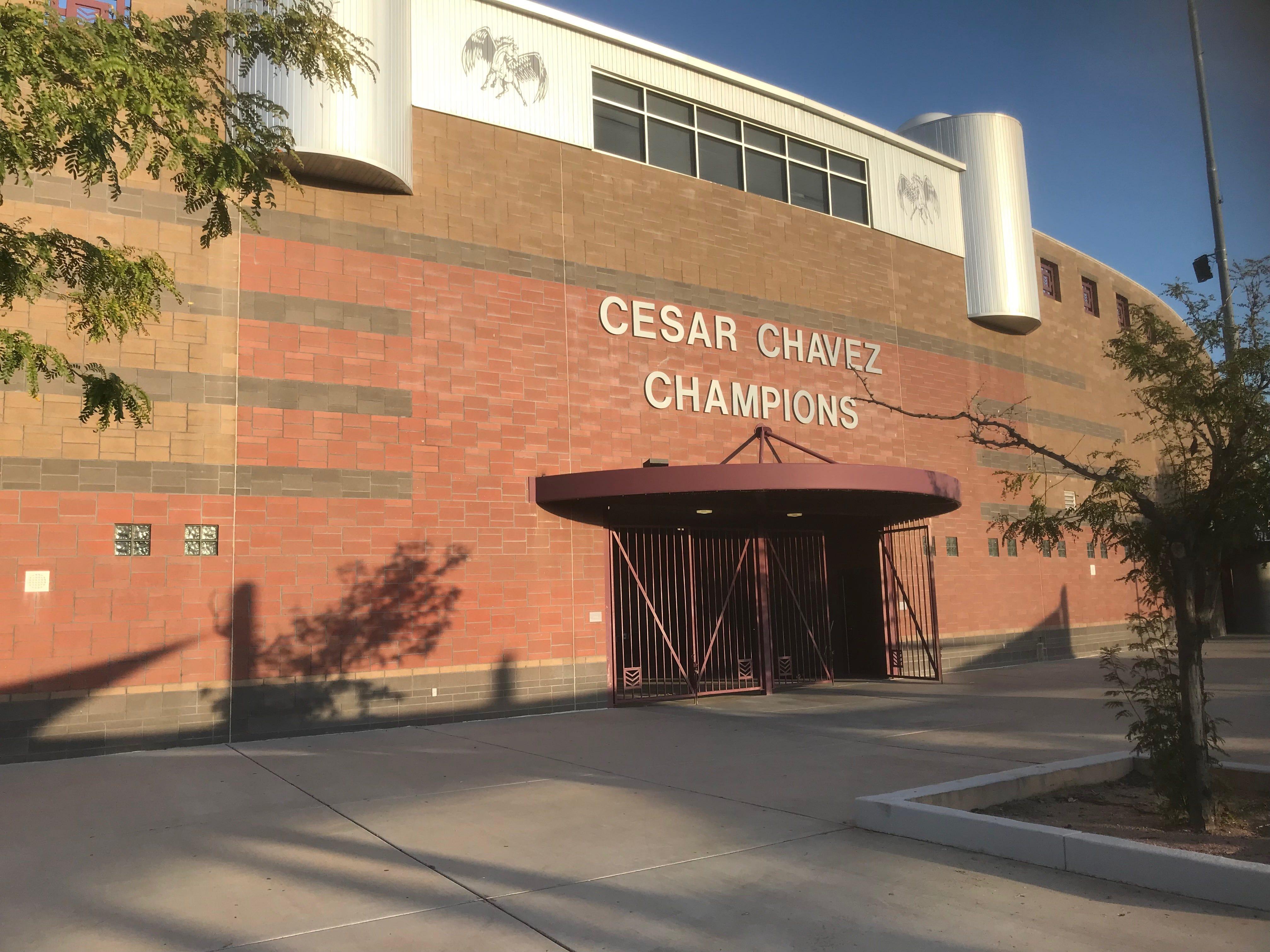 Laveen Cesar Chavez High School's football stadium.