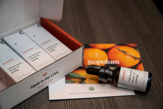 Populum's inventory is composed of oral tinctures —the most popular item — a topical cold-therapy rub and a pet version. Populum is primarily an e-commerce business with the majority of sales coming through its website.