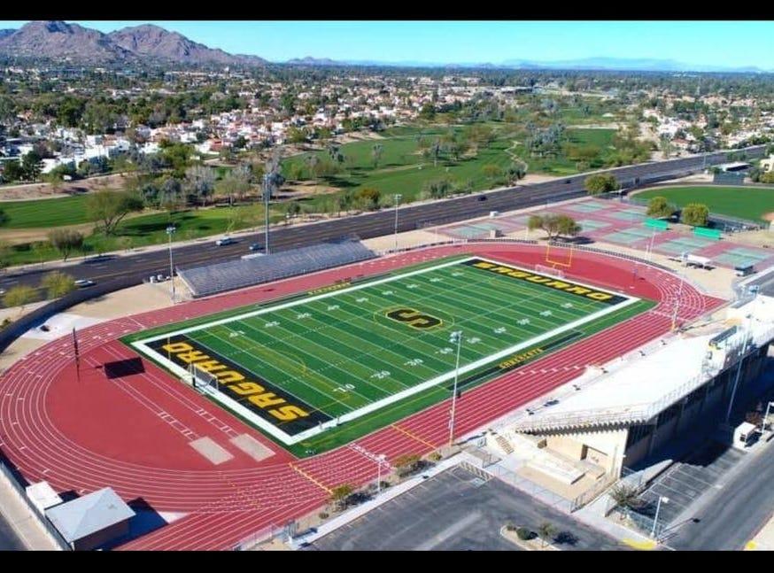 Scottsdale Saguaro High School's football stadium.