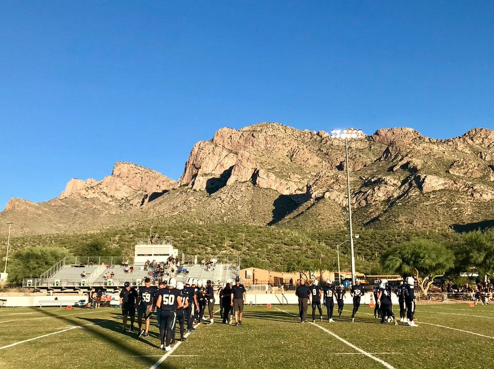 Tucson Pusch Ridge Academy's football stadium.