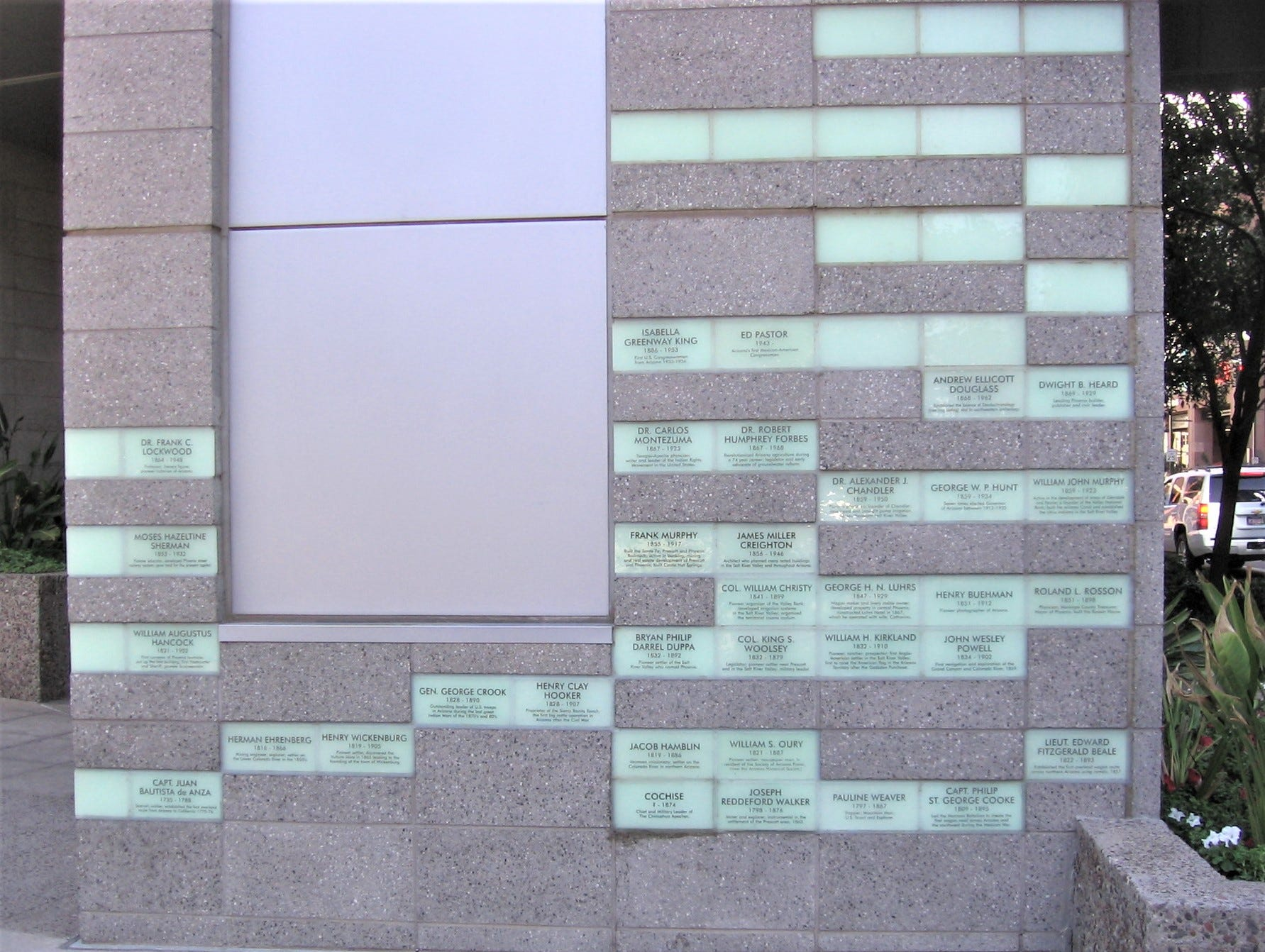 Plaques at Patriot Square.
