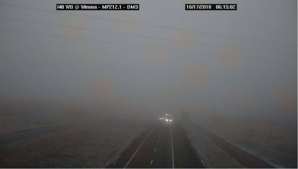 Heavy fog reported on I-40 east of Flagstaff | Arizona Central