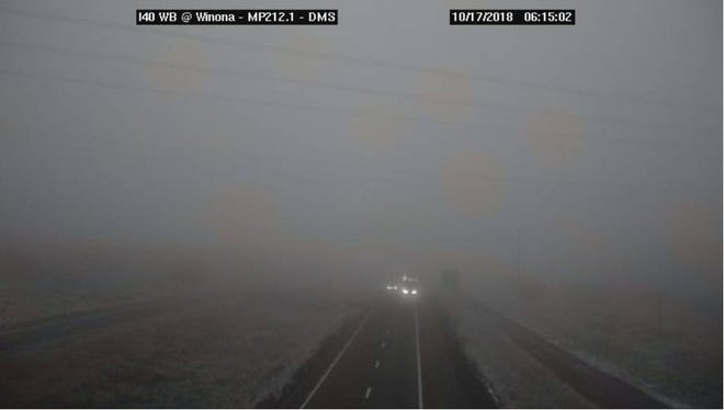 Thick fog was reported on Interstate 40, east of Flagstaff, at Winona and in other parts of northern Arizona on Wednesday morning, according to the Arizona Department of Transportation.