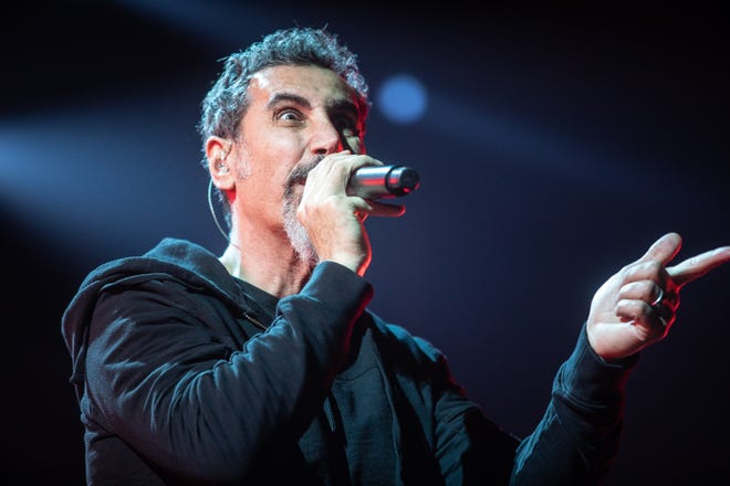 System of a Down performs at Talking Stick Resort Arena on Tuesday, Oct. 16, 2018 in Phoenix.