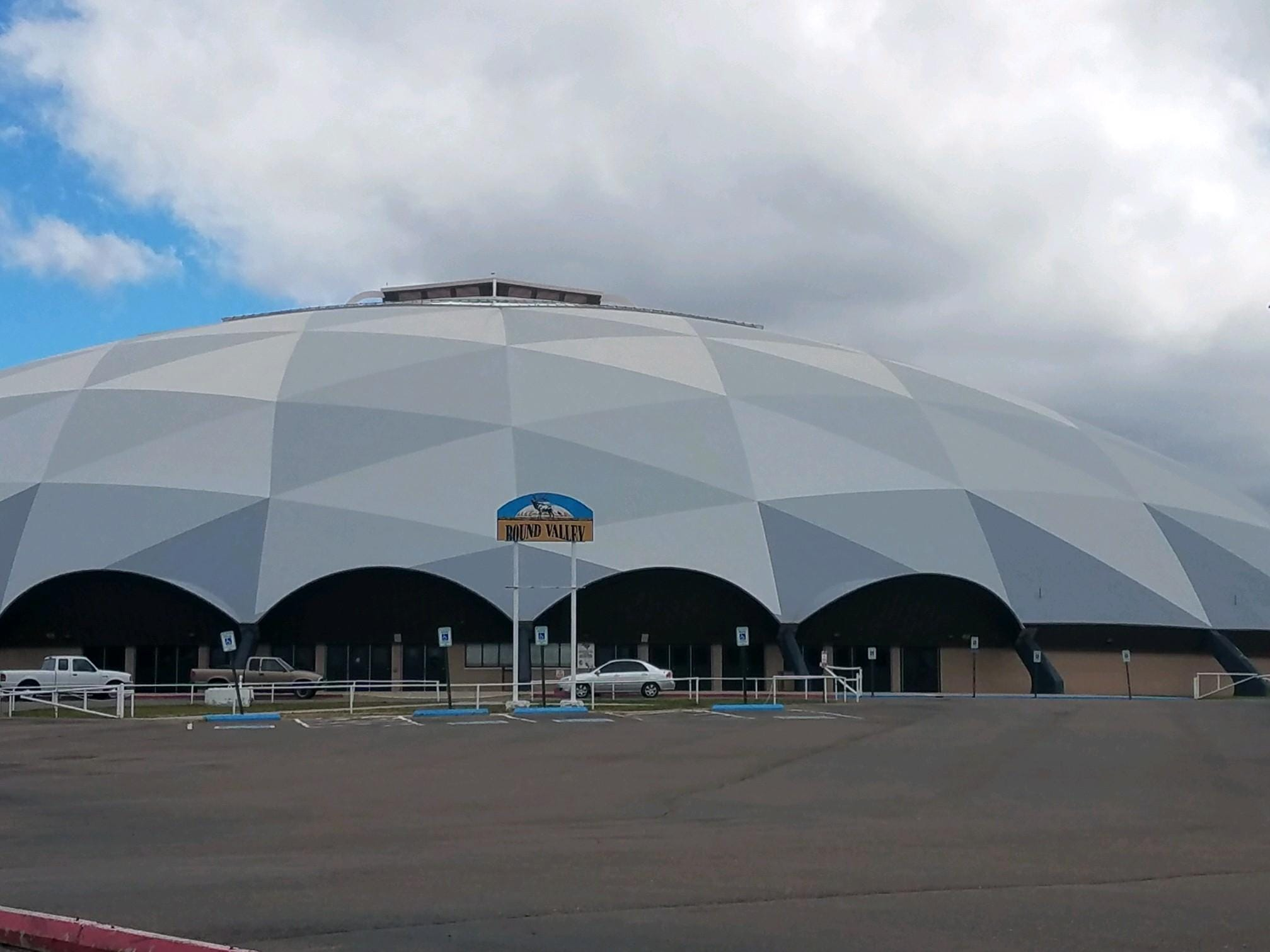 Eagar Round Valley High School's football stadium is known as the Ensphere and it's believed to be the first high school domed football stadium when it opened in 1991.