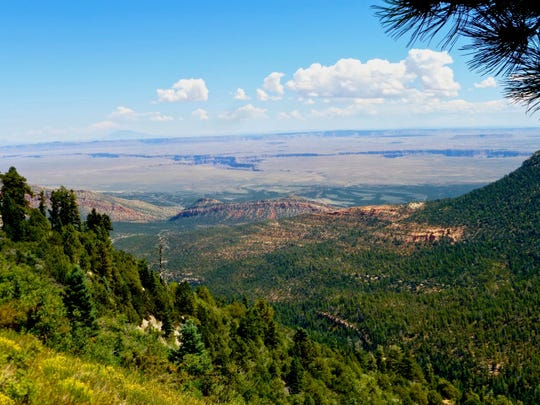 The East Rim View offers big panoramas of the Saddle Mountain Wilderness, House Rock Valley and beyond.
