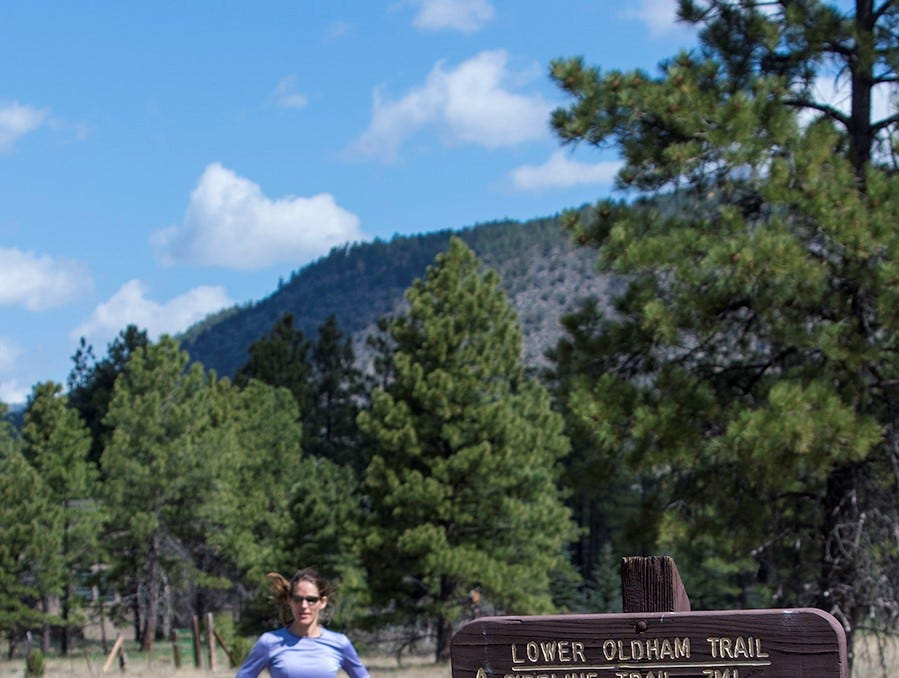Crossing Buffalo Park in Flagstaff, the Arizona Trail connects with other pathways for those looking to extend their outing.