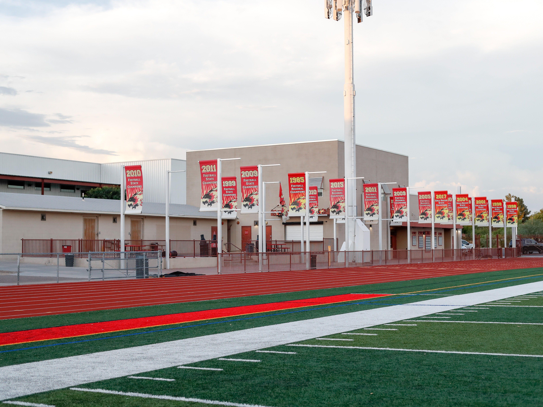 Scottsdale Chaparral High School's football stadium.