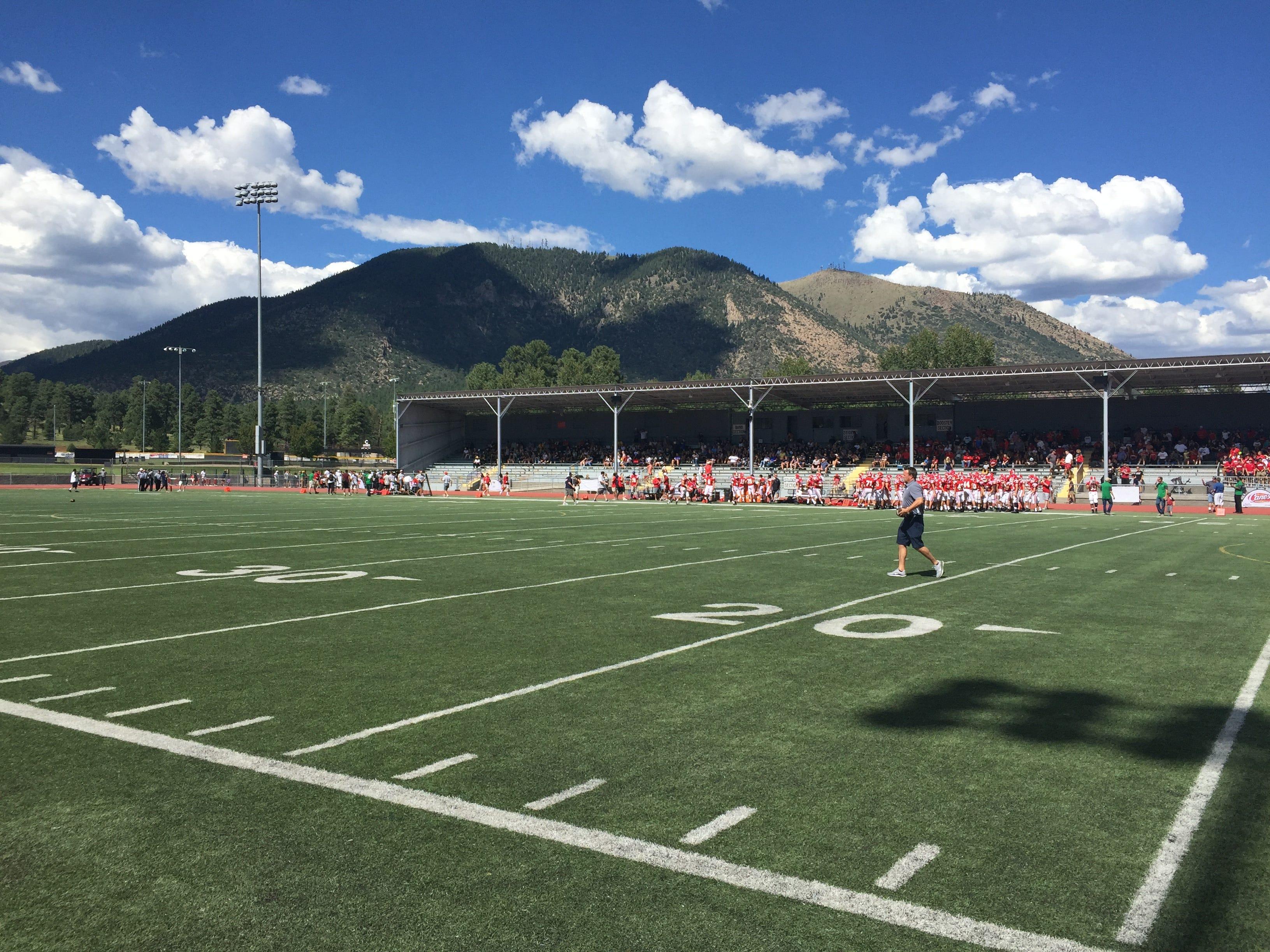 Flagstaff Coconino High School's football stadium.