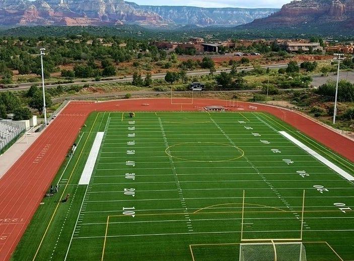 Sedona Red Rock High School's football stadium.
