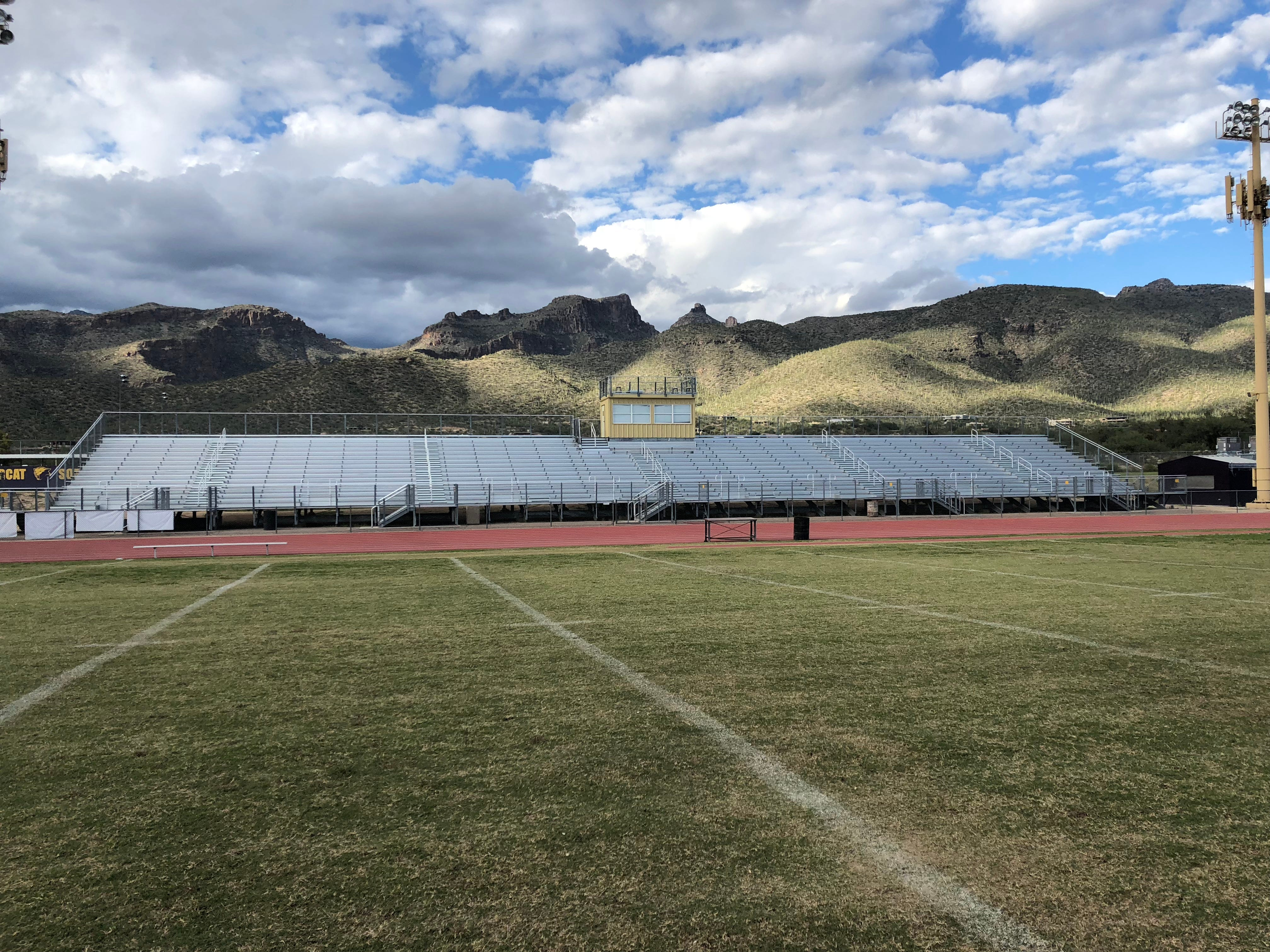 Tucson Sabino High School's football stadium.