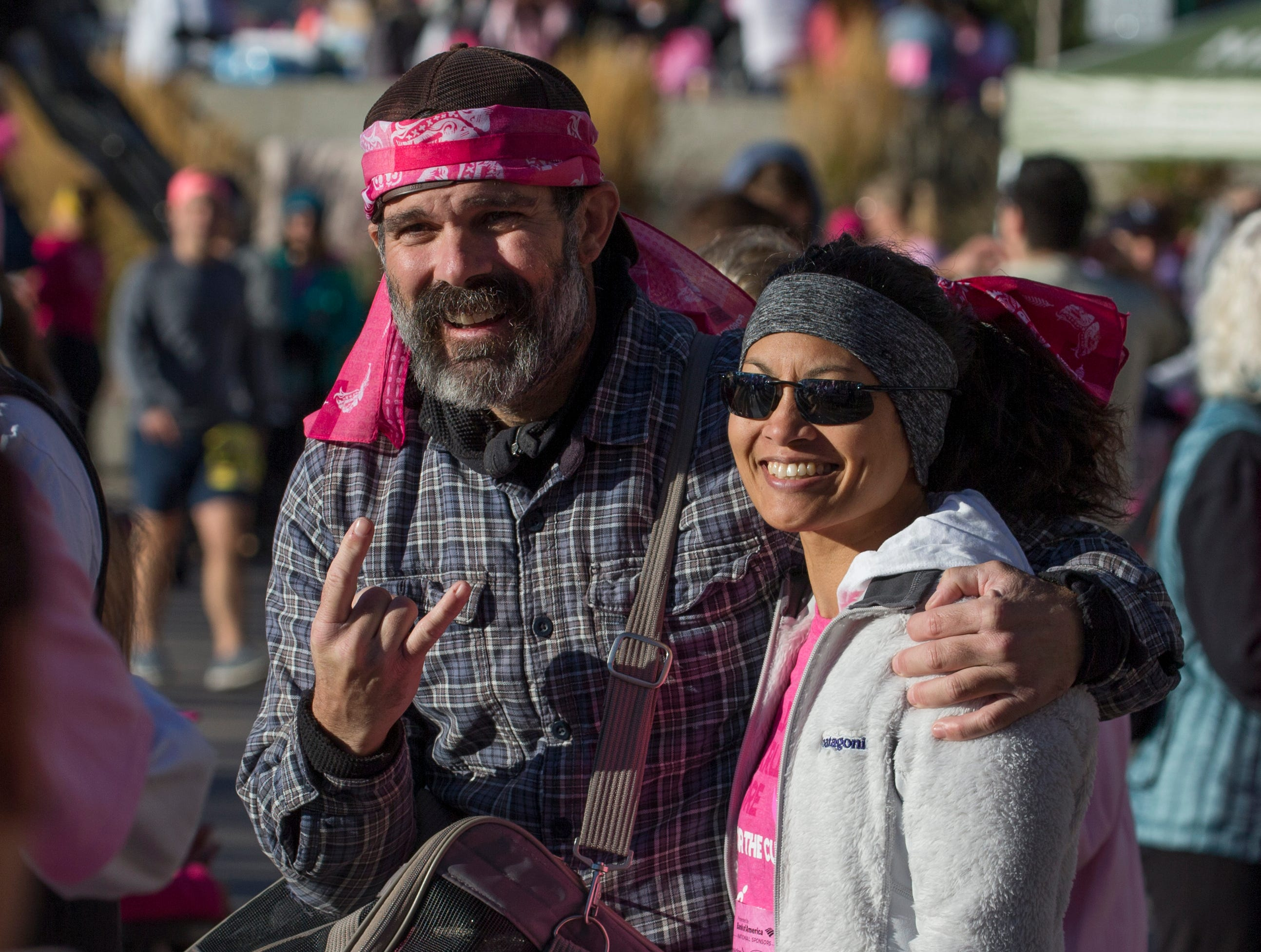 Pete and Joanne Henze during the Susan G. Komen Race for the Cure on Sunday, October 14,  2018 in downtown Reno.