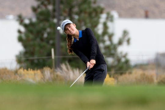 Carson sophomore Karen Beglin was fifth in the girls 4A state tournament on Tuesday at Dayton Valley.