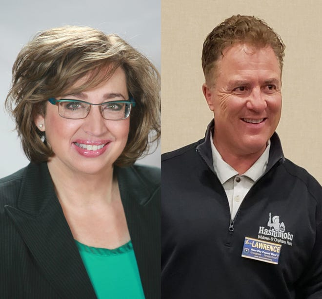 Councilwoman Naomi Duerr and Joe Lawrence, who are running for the Ward 2 seat on the Reno City Council.
