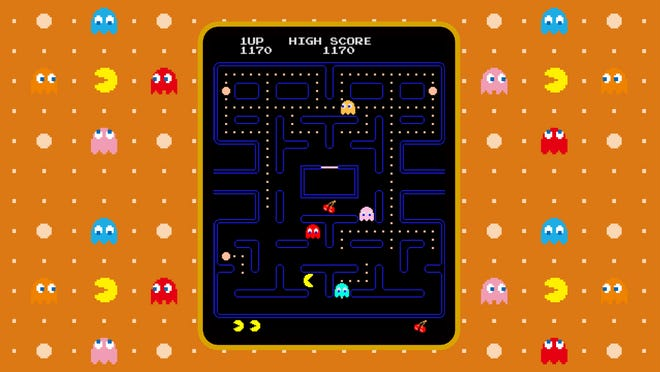 Pac-Man from the Namco Arcade Museum.