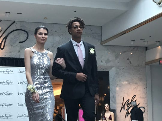Serena B. is a model with Mary Therese Friel, here at the Lord & Taylor prom runway show