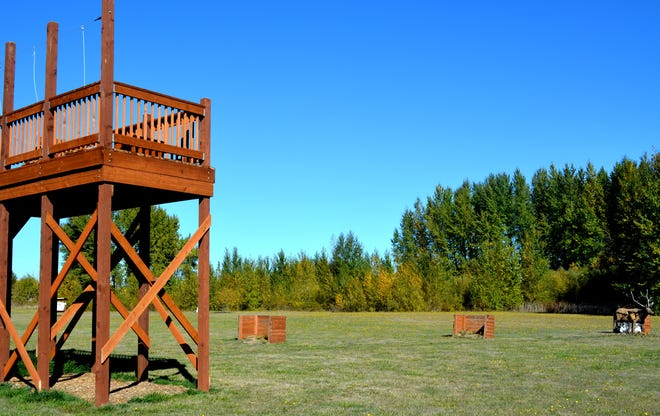 This tree-stand simulation platform was added to the E.E. Wilson Wildlife Area Archery Park in 2017.
