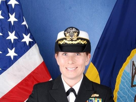 Cmdr. Jamie Davidson Hopkins of the Navy's USS Wayne E. Meyer is a Salem native.