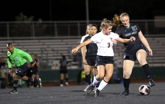 West Salem's Abigail Knoll gets the ball around a Sprague player on Tuesday, Oct. 16 at West Salem High School.