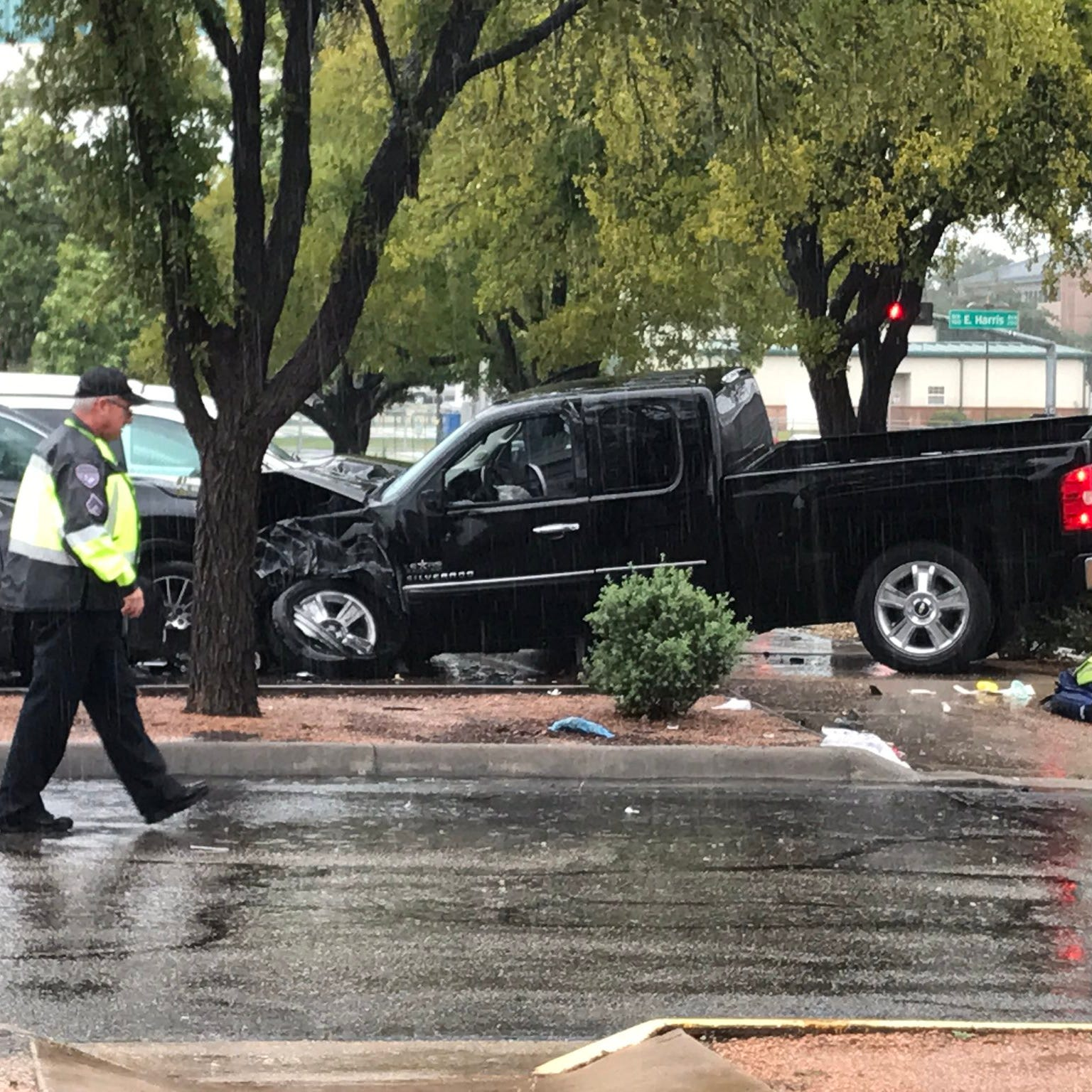 Driver has heart attack, crashing pickup at Shannon Clinic in downtown San Angelo