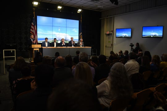 Delmarva space leaders speak at a press conference with Rocket lab on Wednesday, Oct 17, 2018. The private aerospace company announced that the Virginia Space Mid-Atlantic Spaceport will be the site of their first U.S. launch complex.
