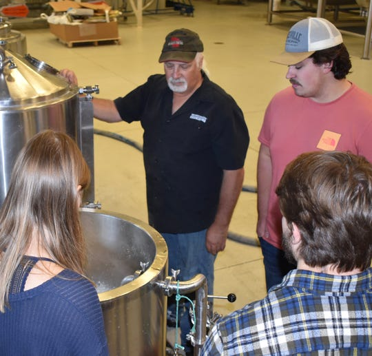 Brewmaster Kirby Nelson showing UW-Madison the brewing ropes as part of the Campus Craft Brewery program.